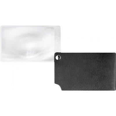 Lupa veľkosť kreditnej karty, čierna visoPOCKET 2,5x koža ESCHENBACH