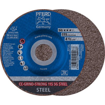 Brúsny kotúč CC-GRIND STRONG-STEEL 115mm PFERD