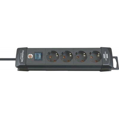 Zásuvková lišta Premium 4 zásuviek H05VV-F3G1,5 1,8m Brennenstuhl