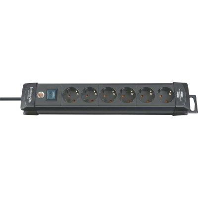 Zásuvková lišta Premium 6 zásuviek H05VV-F3G1,5 3m Brennenstuhl