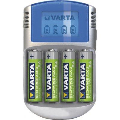 Nabíjačka batérií LCD Charger na 4 aku AA / AAA s 4 Aku AA 2700mAh, adaptér 12V, Kábel USB VARTA