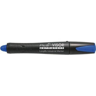Permanentný popisovač VISOR priemyselný, modrá Pica