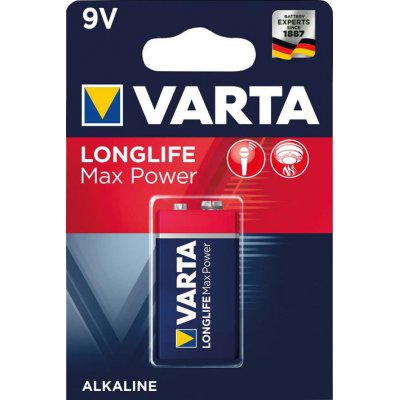 Batéria MAX TECH 9 V block 1 kus v blister ks. VARTA