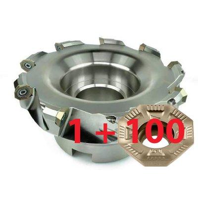 Sada 100ks VBD OFMT05T3 + rovinná fréza pre 9x VBD