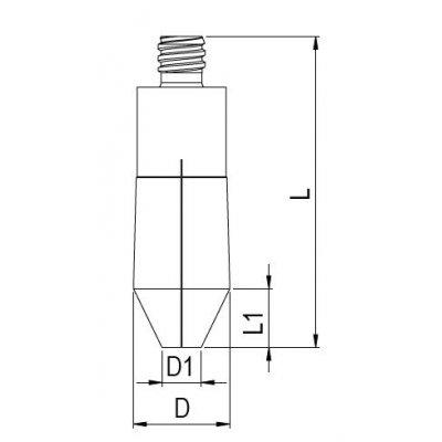 Upínacie puzdro APC 20 priemer 3mm kužeľovité Albrecht