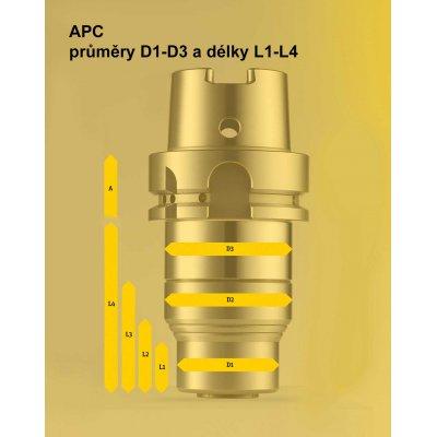 Upínač APC 20, A-110 DIN 69871-AD50 pro broušení Albrecht